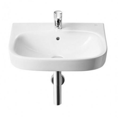 Roca Debba Wall Hung Basin - 500mm - 1 Tap Hole - White
